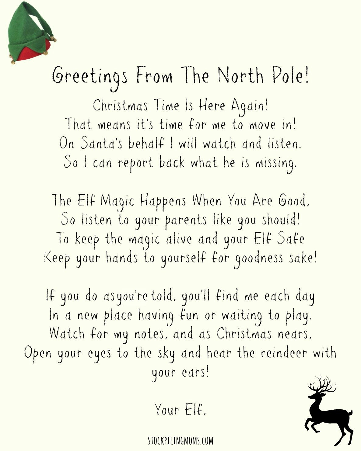 "picture relating to Elf on the Shelf Welcome Back Letter Printable referred to as Elf Upon A Shelf Welcome Letter Printable - STOCKPILING MOMSâ""¢"