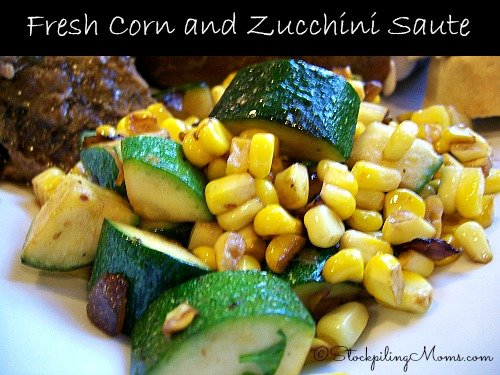 Fresh Corn and Zucchini Saute is an excellent Clean Eating recipe with few ingredients! Perfect for carb cycling!