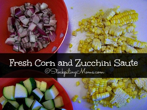 Fresh Corn and Zucchini Saute is an excellent Clean Eating recipe with few ingredients! #cleaneating #recipe