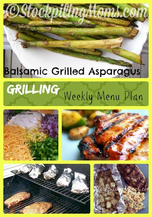 Grilling Weekly Menu Plan Collage