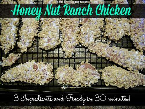 Honey Nut Ranch Chicken is amazing! Only 3 ingredients needed and is ready in 30 minutes!