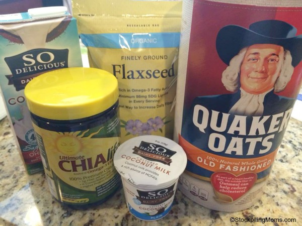 Overnight No Cook Refrigerator Oatmeal Recipe Ingredients