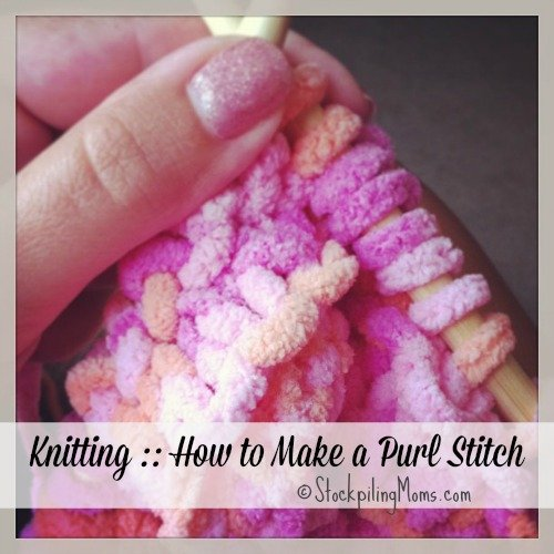 How To Make Knit Stitch Purl : Knitting :: How to Make a Purl Stitch