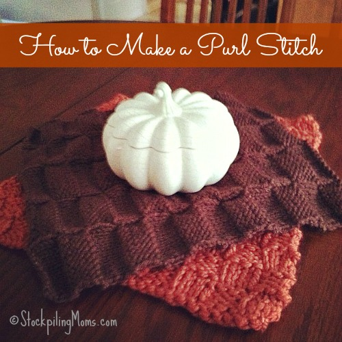 How to make a Purl Stitch when knitting! #knitting #craft #DIY