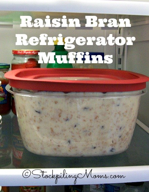 Raisin Bran Refrigerator Muffins are the BEST! You can prep the batter and bake each morning so that you have fresh muffins!