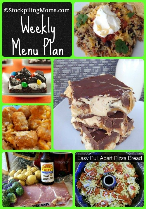 Here is our Weekly Menu Plan that will help you save time on dinners and money this week!
