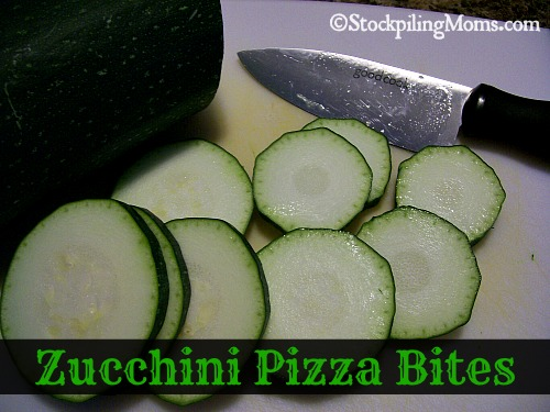 Zucchini Pizza Bites are easy to make and taste wonderful!