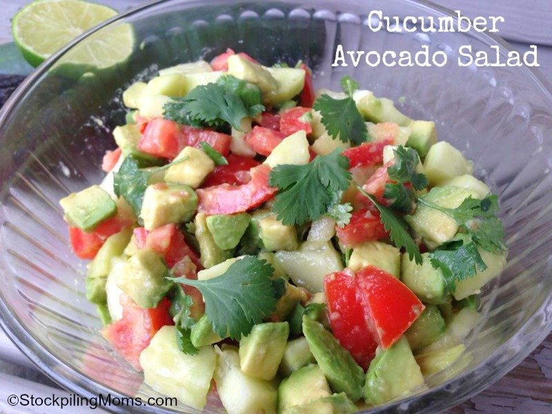Cucumber Avocado Salad - Paleo, Gluten Free and full of Super Foods!