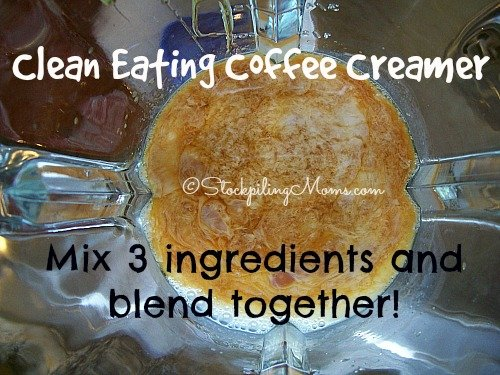 Clean Eating Coffee Creamer that you can make with 3 ingredients!!!