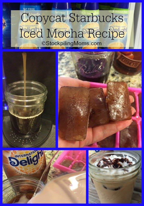Copycat Starbucks Iced Mocha Recipe Collage