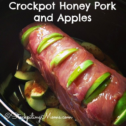 Crockpot Honey Pork and Apples is a great paleo, clean eating and gluten free recipe!