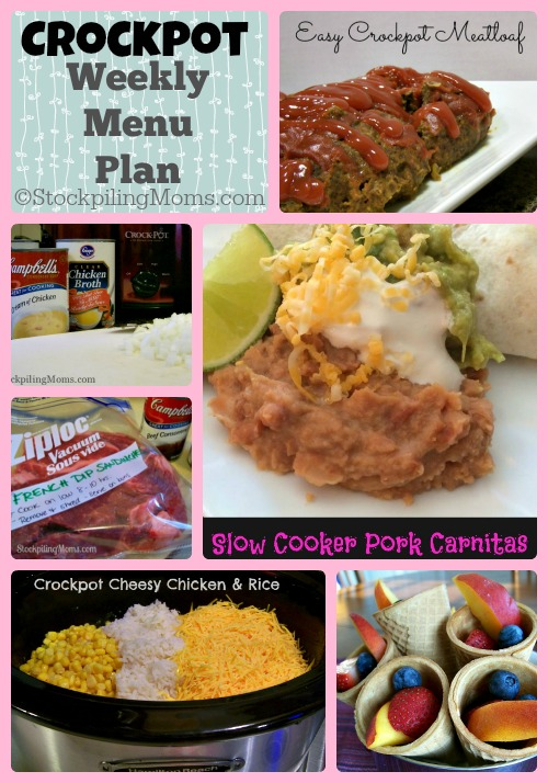 ©StockpilingMoms.com Crockpot Weekly Menu Plan #menuplan #slowcooker