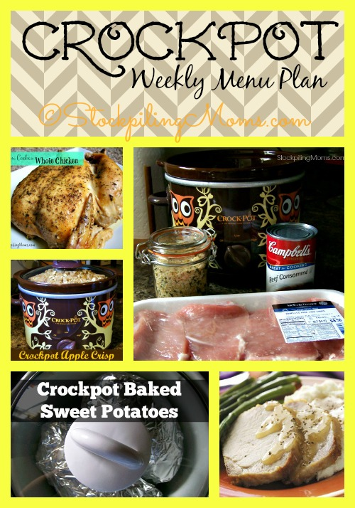 Crockpot Weekly Menu Plan will help you save time and money! #menuplan #recipes #slowcooker
