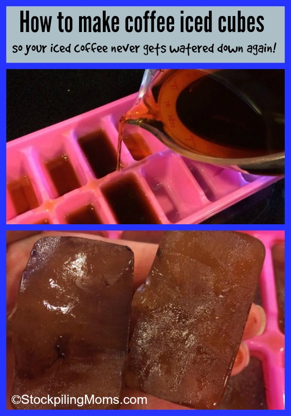 How to make coffee iced cubes so your iced coffee never gets watered ...