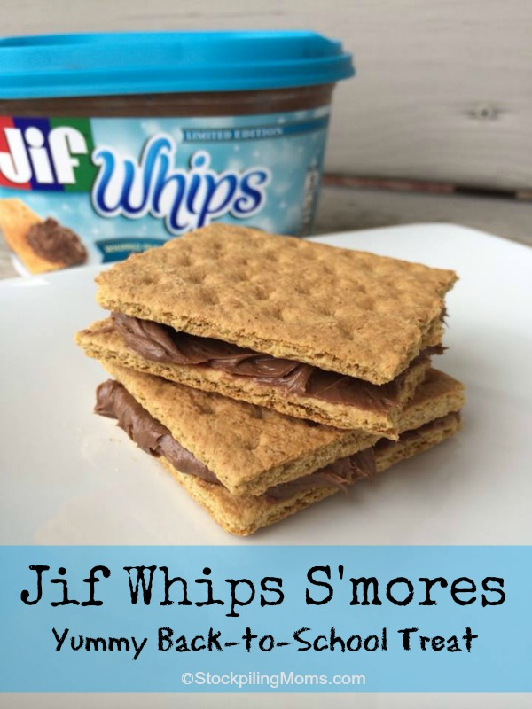 Jif Whips S'mores - A yummy Back-to-School Treat!