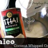 Paleo Coconut Whipped Cream