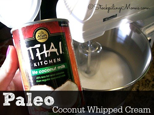 Paleo Coconut Whipped Cream is simple to make! #paleo #dessert
