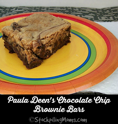 Paula Deen's Chocolate Chip Brownie Bars are AMAZING! You have to make them soon!