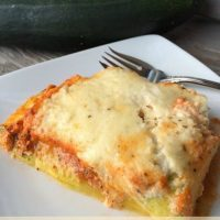 Zucchini Lasagna is Low Carb, Gluten Free and Delicious