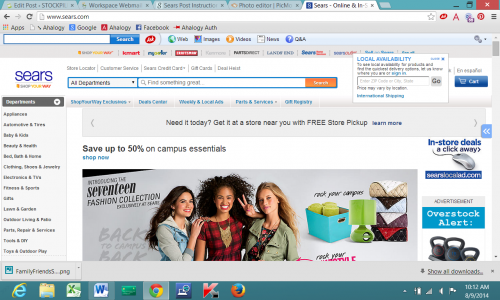 screenshot sears
