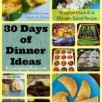 30 Days of Dinner Ideas