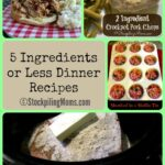 5 Ingredients or Less Dinner Recipes