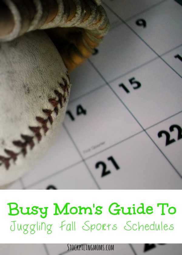 Busy Moms Guide To Juggling Fall Sports Schedules. You can manage it all with these tips!