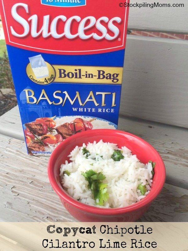 This Copycat Chipotle Cilantro Lime Rice Recipe tastes just like the real thing! My son who is a HUGE Chipotle fanatic even loves it!