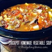 Crockpot Homemade Vegetable Soup