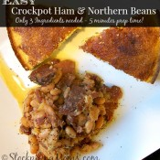 Easy Crockpot Ham & Northern Beans