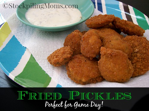 Fried Pickles are perfect for Game Day!