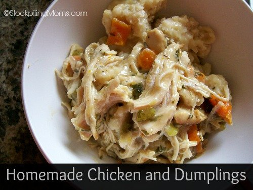 Homemade Chicken and Dumplings are my favorite comfort food of all time!