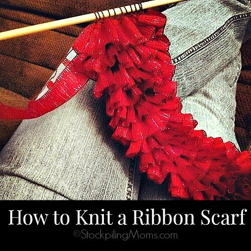 How to Knit a Ribbon Scarf in easy steps! #knitting #ribbonscarf
