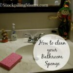 How to clean your Bathroom Sponge