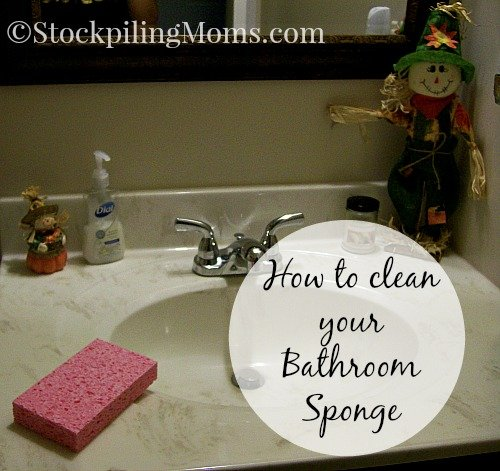 How to clean your Bathroom Sponge #cleaning