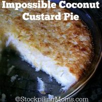 Impossible Coconut Custard Pie2