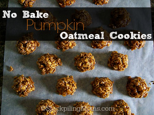 No Bake Pumpkin Oatmeal Cookies are the best dessert for fall!