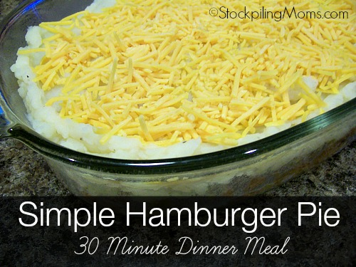 Simple Hamburger Pie is a great 30 minute dinner meal!