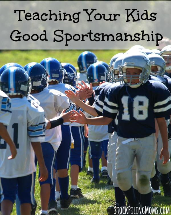 Teaching Your Kids Good Sportsmanship, even when they are on the losing team. It is a hard lesson but one that will last your kid a lifetime.