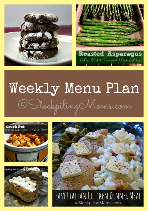 Weekly Menu Plan to help save you time and money! #menu