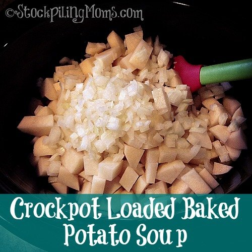 Crockpot Loaded Baked Potato Soup is amazing! The day I made this Crockpot Loaded Baked Potato Soup is was a wet, cold and very gloomy day and this soup was spot on for dinner.
