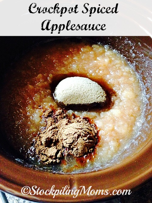 Crockpot Spiced Applesauce is so delicious and easy to prepare in the slow cooker. My family loves this warm applesauce recipe all year long, but especially in the Fall when apples are at their peak.