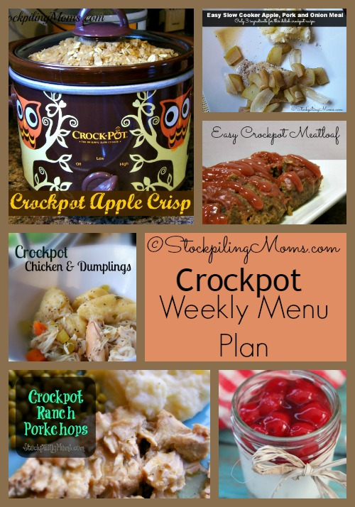 Enjoy our free Crockpot Weekly Menu Plan! We love using our slow cookers to help allow us more time to be with our kids and get our errands and cleaning done.