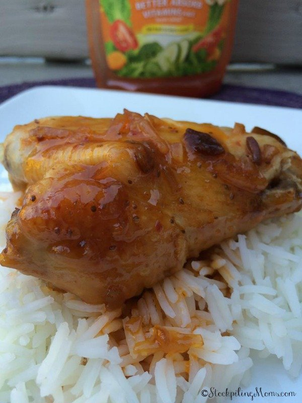Crockpot Apricot Chicken Wings - Only 4 ingredients in this delicious slow cooker recipe.