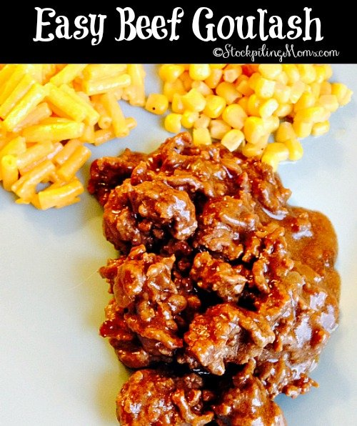 This recipe for Easy Beef Goulash is perfect for a busy week night dinner. You can prepare this meal in 30 minutes and have it on the table ready to eat.