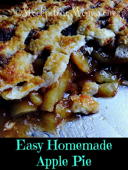 Easy Homemade Apple Pie is amazing and the perfect dessert for Fall! So easy to make and everyone will think it took you all day to prepare!