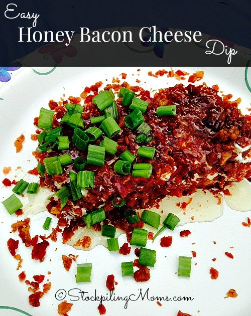 Easy Honey Bacon Cheese Dip is the easiest appetizer recipe you will ever make! It is especially good for tailgating on Sundays for your favorite football team!