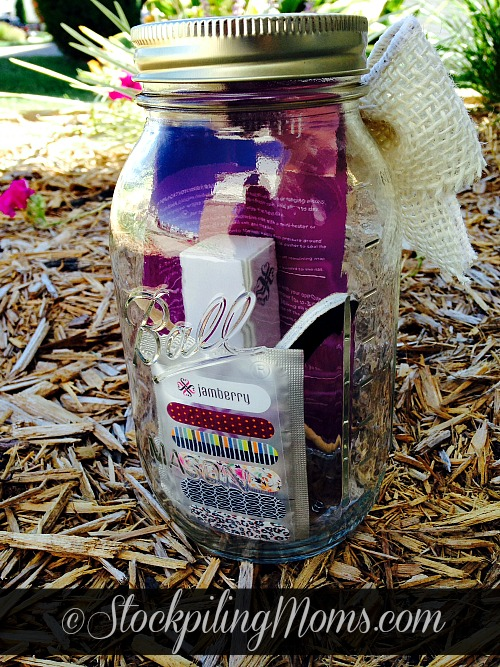 DIY Jamicure in a Jar is perfect for gift giving or donating for a fundraiser!