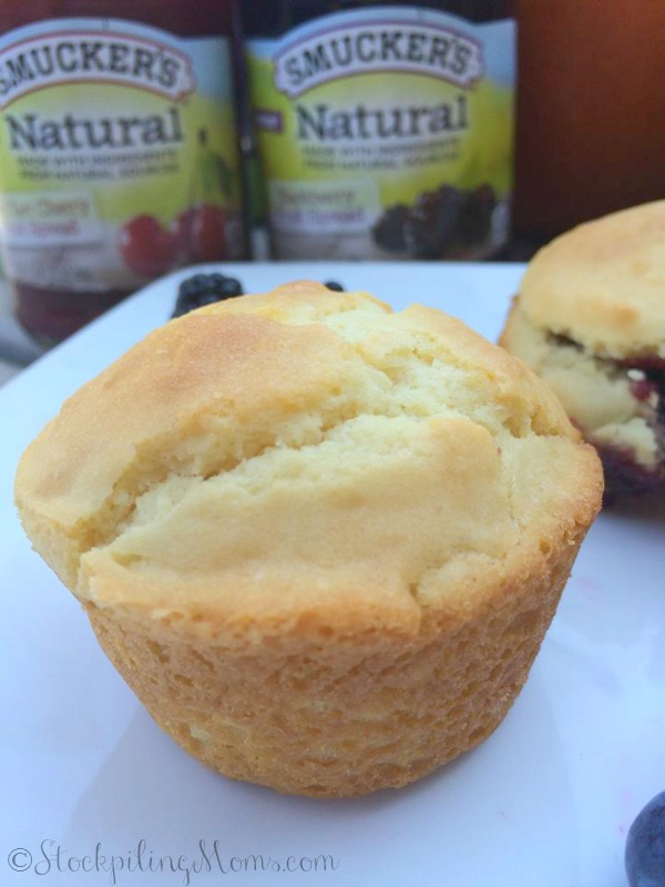 This Jelly Muffins Recipe is an affordable solution to making fruit muffins because Jelly costs far less than fresh or even frozen fruit plus they are delicious!