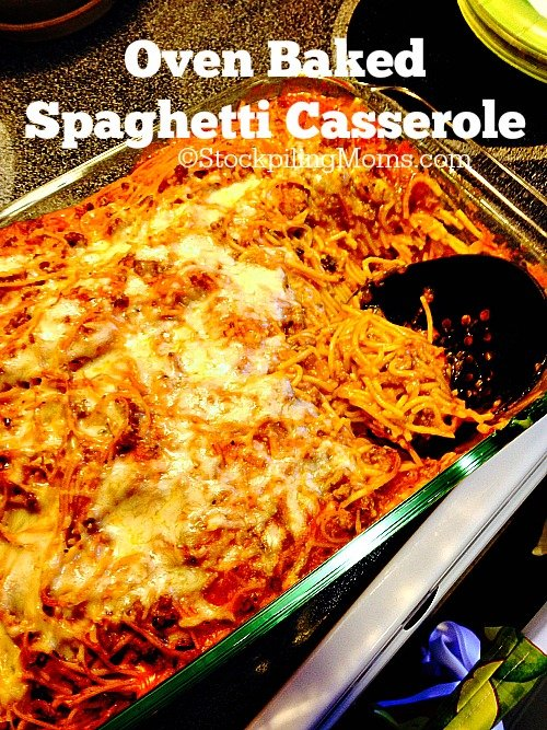 Oven Baked Spaghetti Casserole is a great comfort meal that you can ...